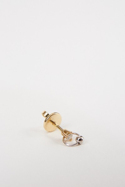 Delfina Delettrez Earring 'Two In One' with diamond Gold