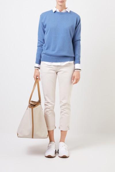 Classic cashmere sweater Blue