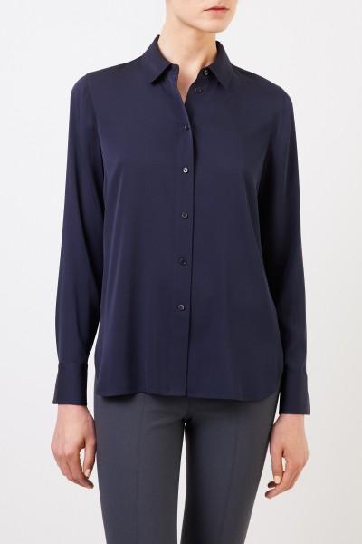 Vince Oversize Seiden-Bluse Marineblau