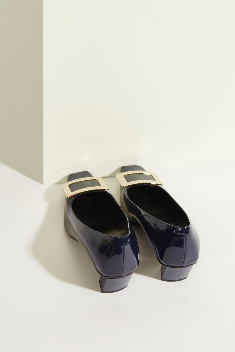 Lackleder-Pump 'Belle Vivier' mit Schnalle Blau