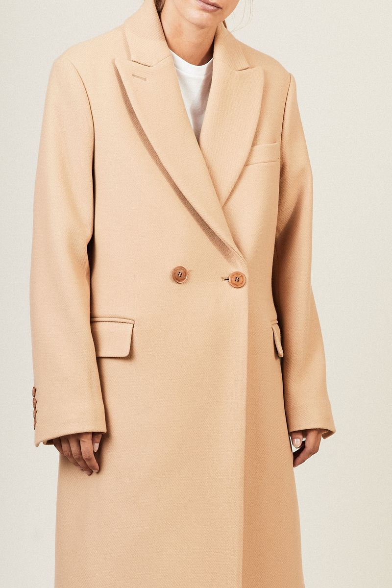 Klassischer Woll-Mantel 'Katherine' Soft Caramel