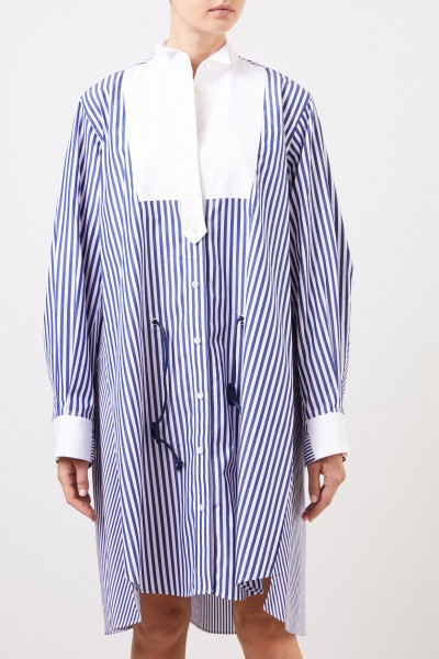 Sacai Striped shirt blouse dress blue/white