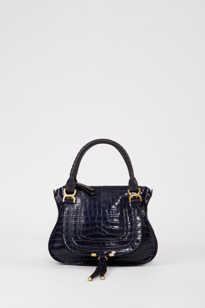 Handtasche 'Marcie Croco' Full Blue