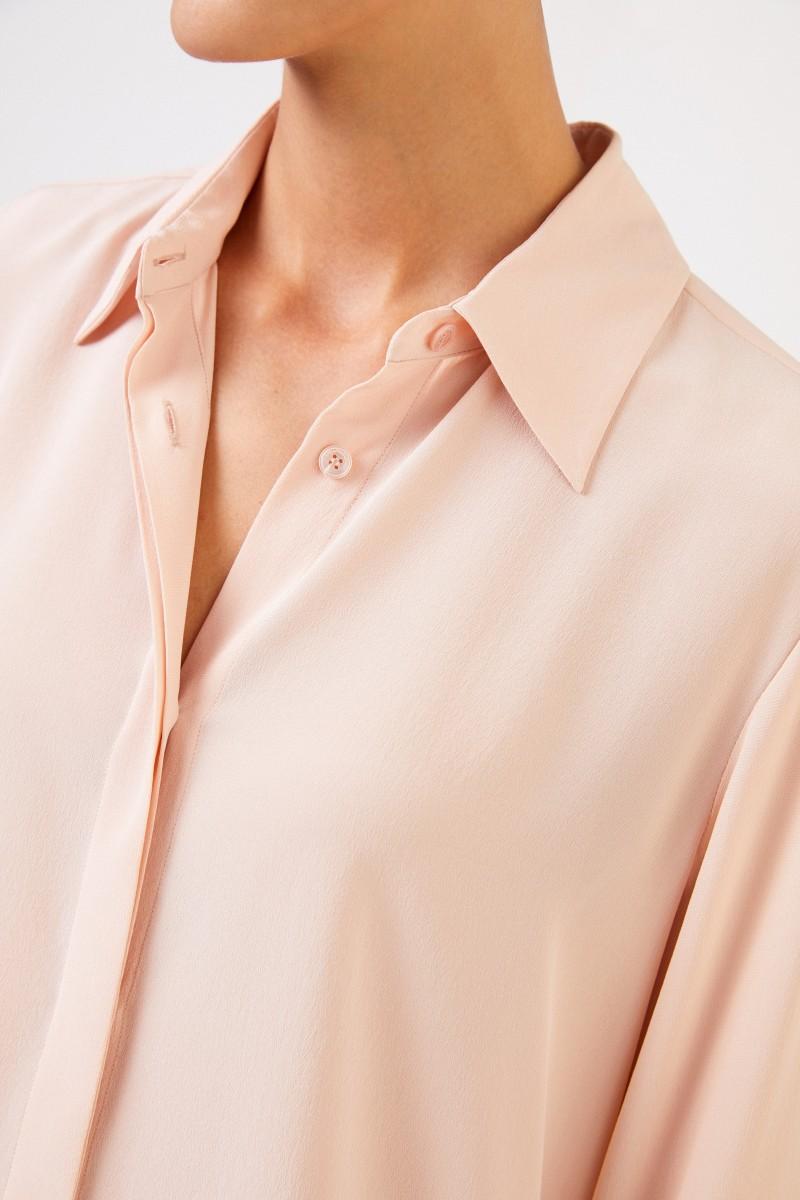 Stella McCartney Klassische Seidenbluse Rosé