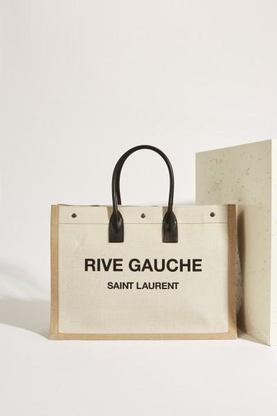 Shopper 'Rive Gauche' Beige/Schwarz