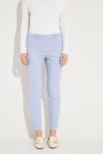 Hose 'Leni' mit umgeschlagenen Saumkanten Blau