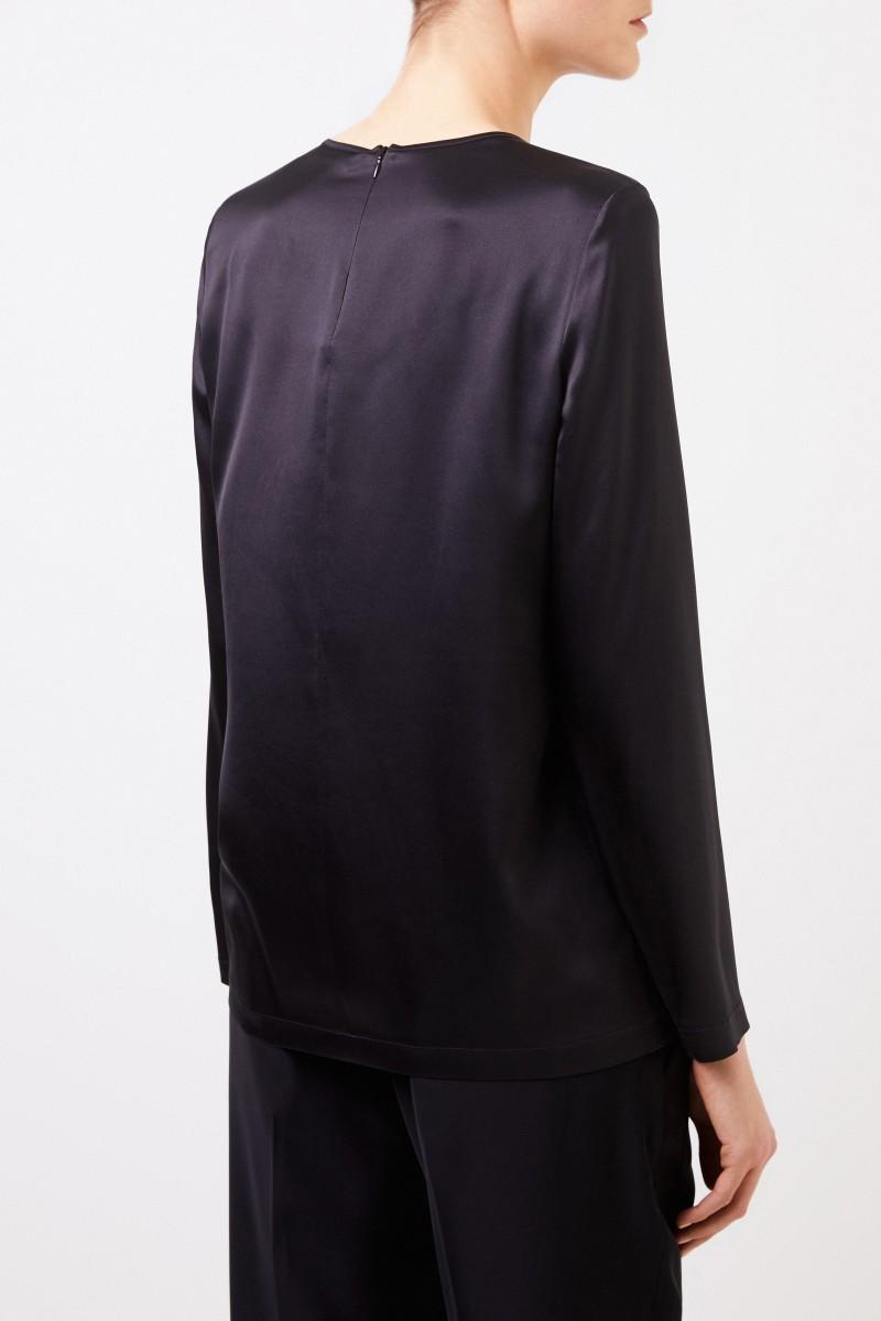 Seiden-Shirt Schwarz