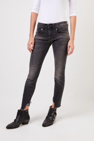 R13 Skinny-Jeans 'Boy Skinny' Anthrazit