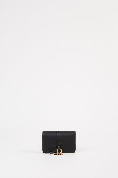 "Leather wallet ""Alphabet Small' Black"