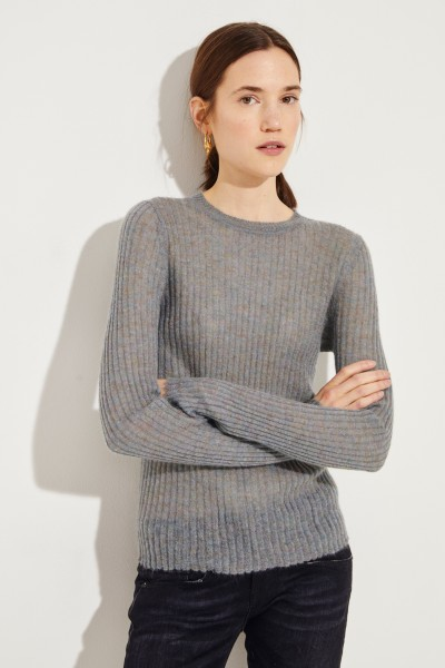 Rippstrick-Mohair-Pullover 'Donna' Multi