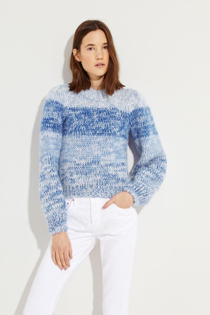 Mohair-wool sweater Blue
