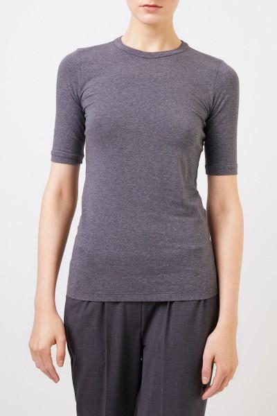 Brunello Cucinelli Klassisches Baumwoll-Shirt Grau