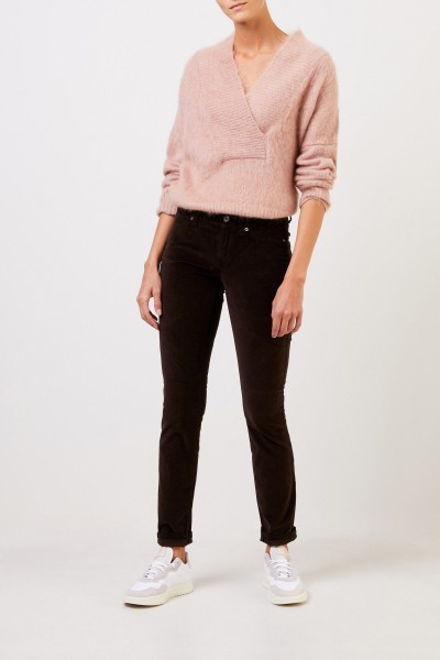 Cambio Fine cord trousers 'Parla' Dark Brown