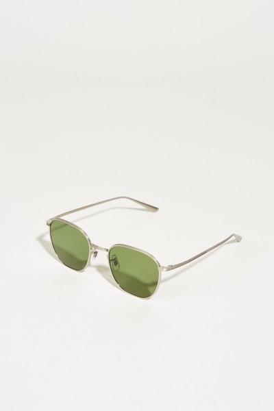 Sonnenbrille 'The Row' Silber/Grün