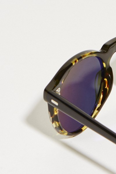 Oliver Peoples Sonnenbrille 'Gregory Peck' mit Muster Schwarz
