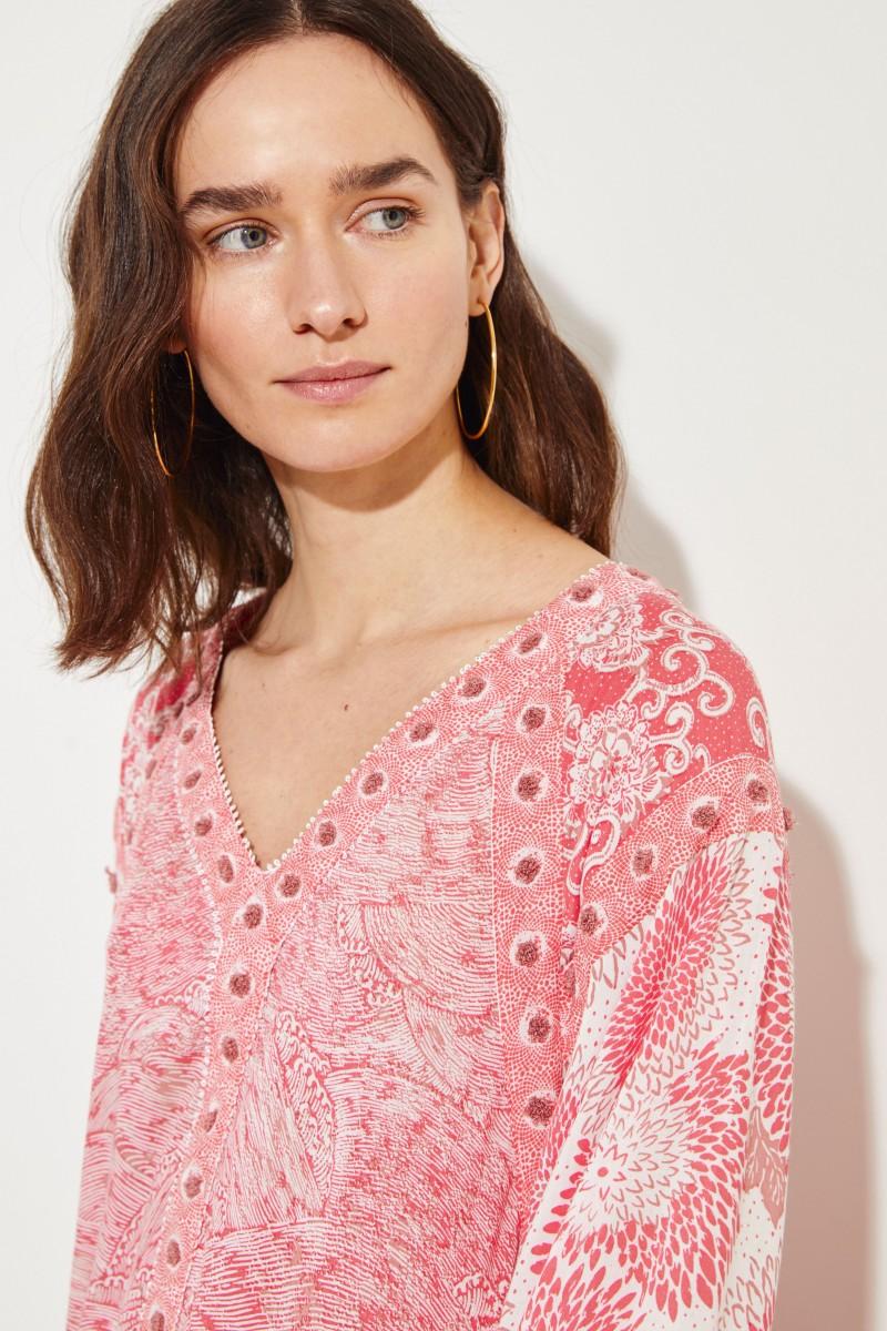 Kleid 'Desirèe' mit Print Pink/Multi