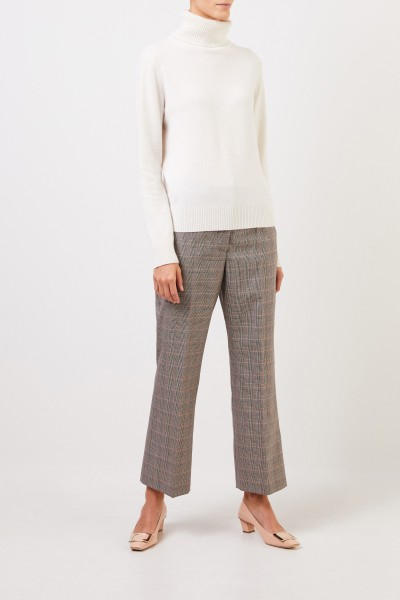 Wool pants 'Carlie' with glencheck Multi