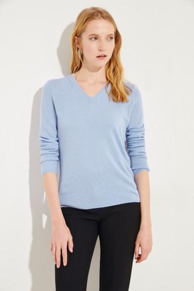 Cashmere-Pullover 'Candice' mit V-Neck Blau