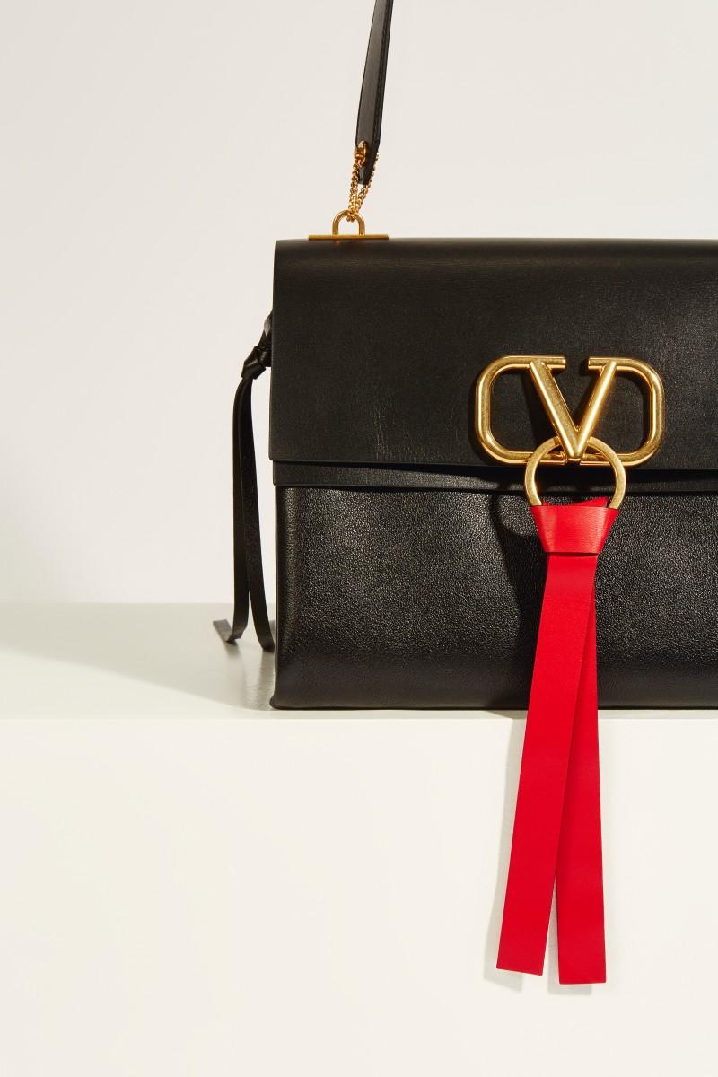 Leder-Tasche 'Vring' Schwarz