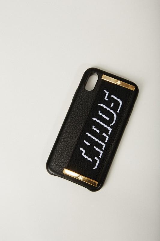 Iphone X Case 'Hand Hug' Schwarz