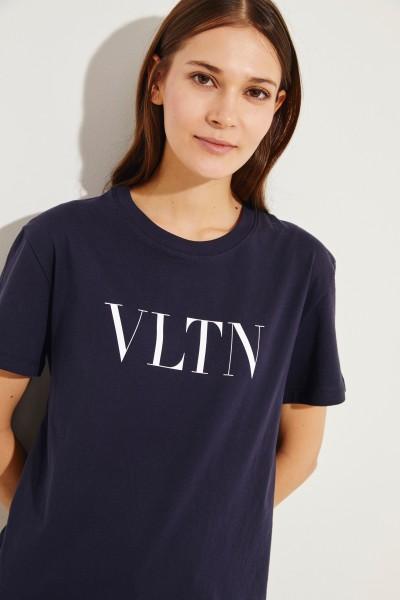 T-Shirt mit Logo Marineblau