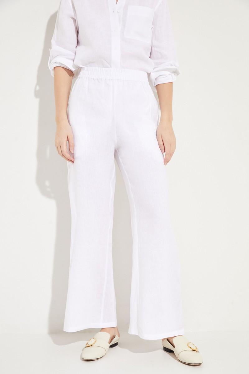 Leinen-Hose Weiß