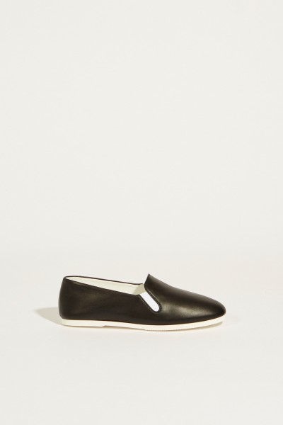 Leder-Slipper 'Grace' Schwarz