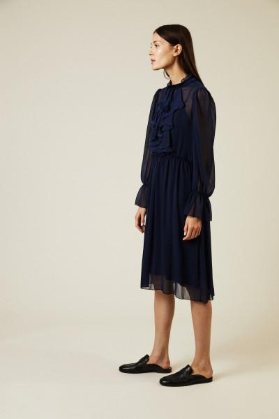 Semitransparentes Kleid Dunkelblau