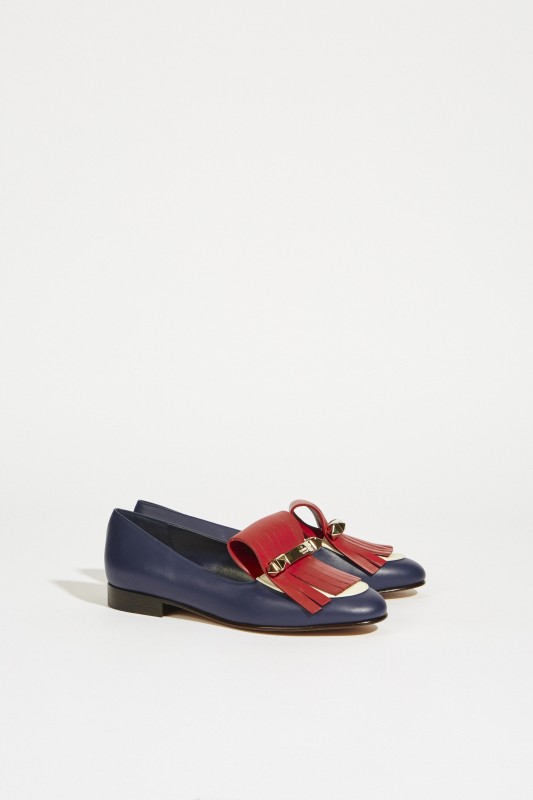 Tricolor Leder-Loafer Multi