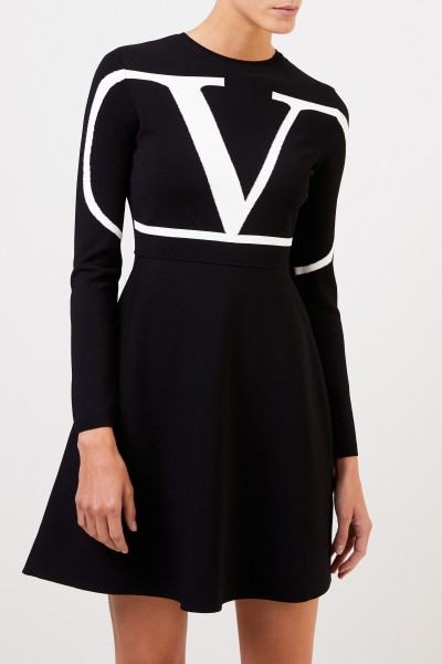 Valentino Knitted dress with 'V' black/white