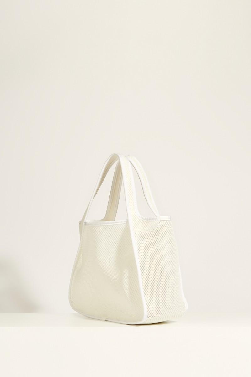 Tasche aus Mesh 'Tote Logo' Weiß