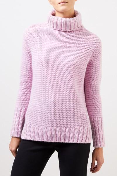 Iris von Arnim Cashmere sweater 'Alina' with turtleneck Pink