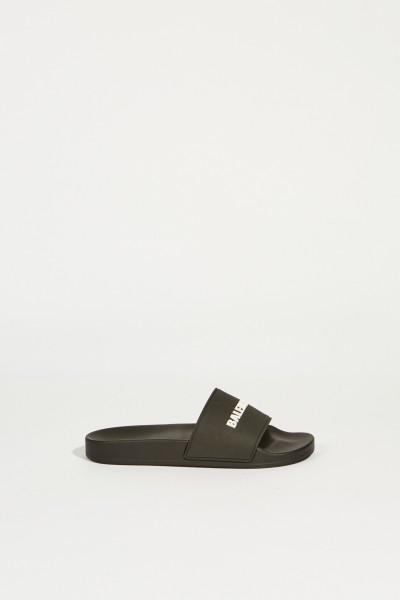 Sandal with logo lettering Black/White