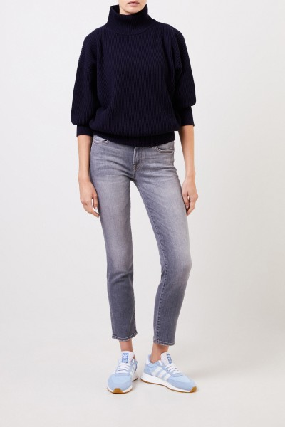 7 for all mankind Midrise-Jeans 'Roxaenne Crop' Grau