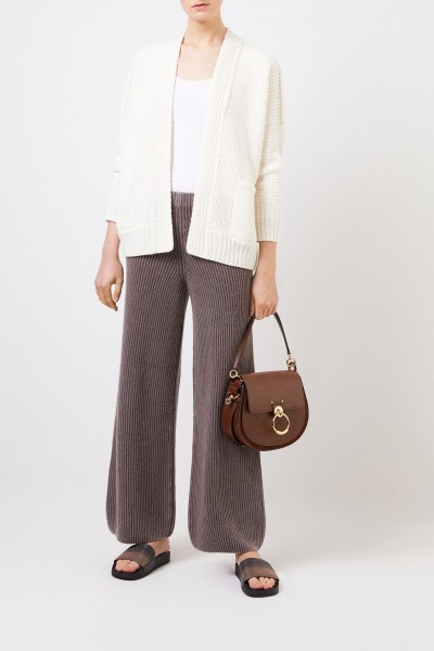 Cashmere pants 'Fedra' Brown