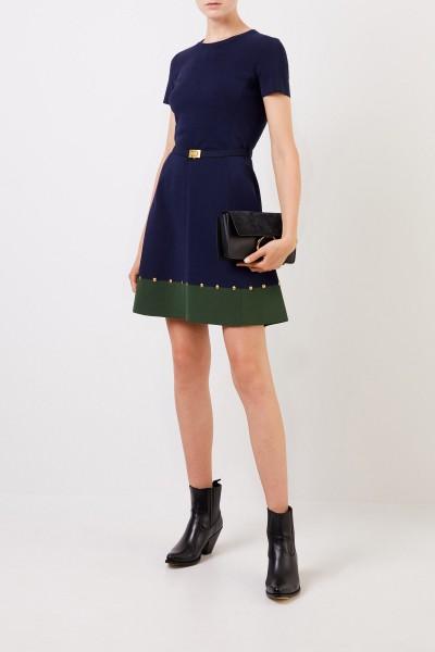 Kleid mit Nieten-Details Marineblau/Grün