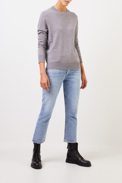 Uzwei Cashmere sweater with rib knit collar Grey