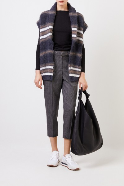 Fine alpaca sweater with lurex details Black