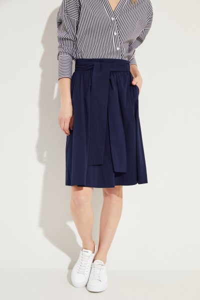 Short skirt with binding detail Navy Blue