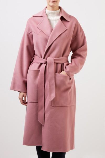 Nanushka Wool coat 'Alamo' with belt Rosewood