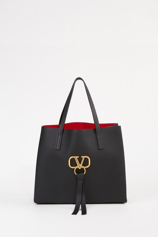 Shopper mit Logo Schwarz