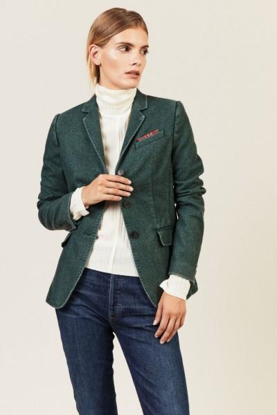 Blazer mit Einstecktuch-Detail Grün