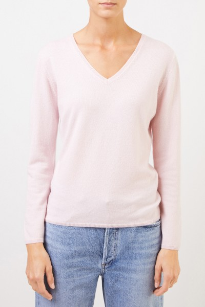 Uzwei Cashmere pullover with v-neck Light Pink