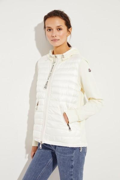 Daunen-Jacke mit Kapuze Crèmeweiß