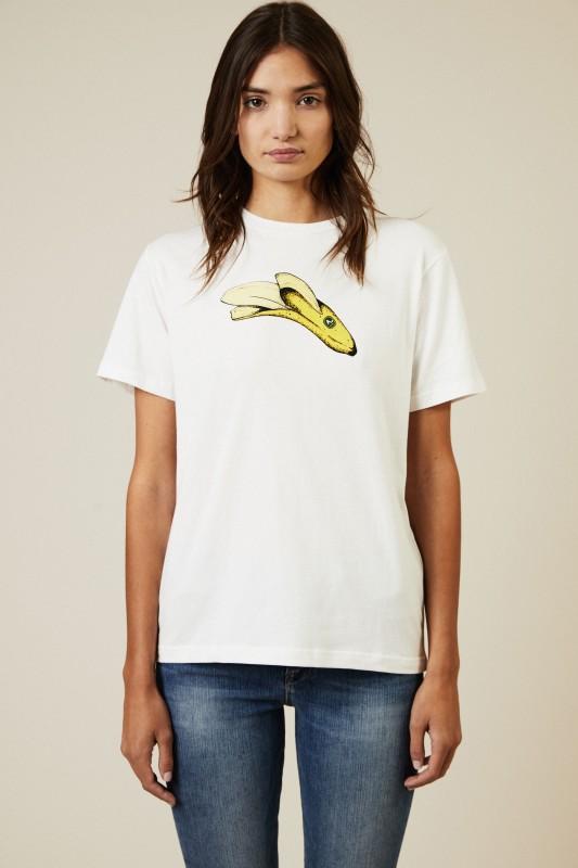 T-Shirt 'Banana' Weiß