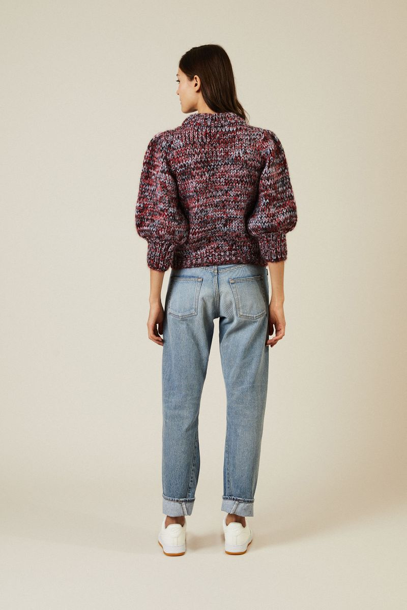 Cropped Mohair-Woll-Pullover 'The Juliard' Multi