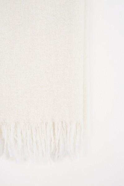 Fabiana Filippi Woll-Seiden-Schal Weiß