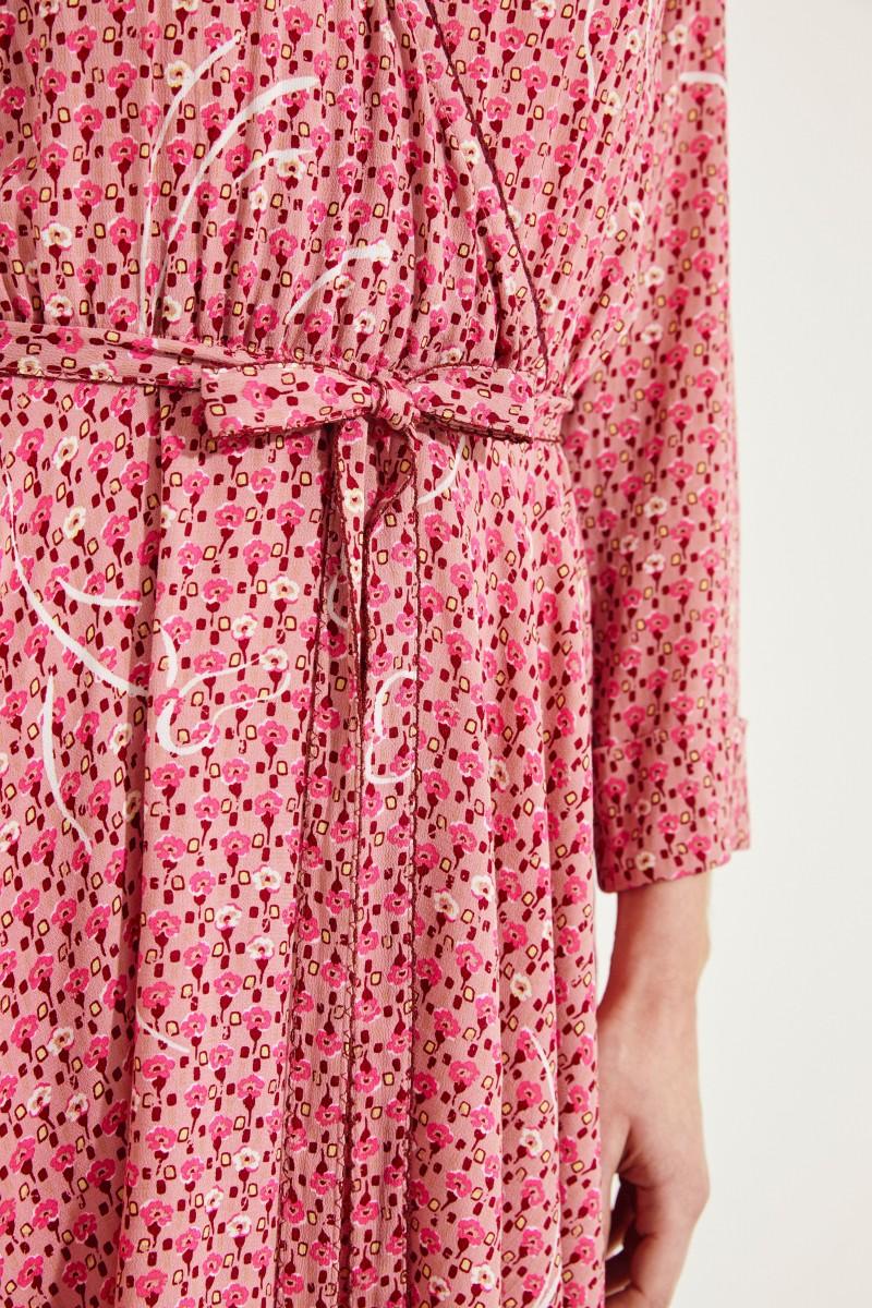 Kurzes Kleid 'Elise' mit Print Rot/Rosé