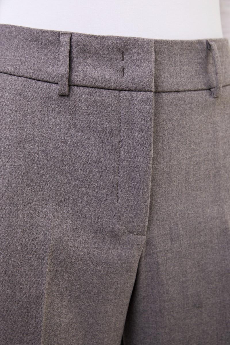 Cappellini Klassische Woll-Hose Grau