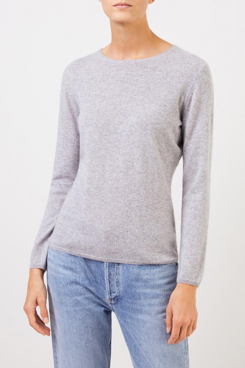 Uzwei Cashmere-Pullover mit R-Neck Hellgrau